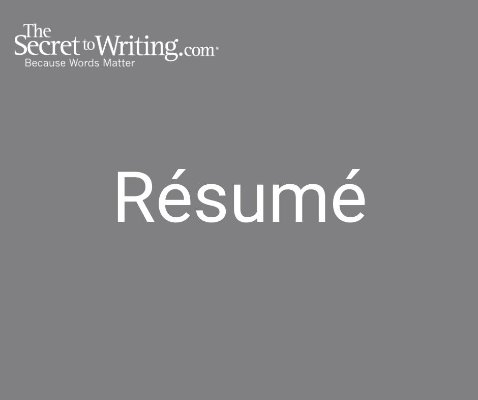 Résumé writing service, cover 1